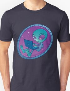 Alien with Laptop Computer T-Shirt