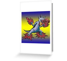 Psychic Attack Golduck  Greeting Card