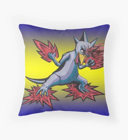 Psychic Attack Golduck  Throw Pillow