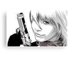 Bullet Gal: Pin-up Canvas Print