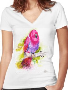 Eclectus Parrot Women's Fitted V-Neck T-Shirt