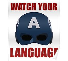 Captain America wants you to watch your language Poster