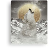 Turn Your Face To The Sun (Stay Gold Wolf) Canvas Print