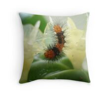 Little Chewi - Orange and black caterpillar Throw Pillow
