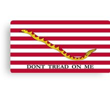 Don't Tread On Me -- First Navy Jack Canvas Print