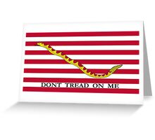 Don't Tread On Me -- First Navy Jack Greeting Card