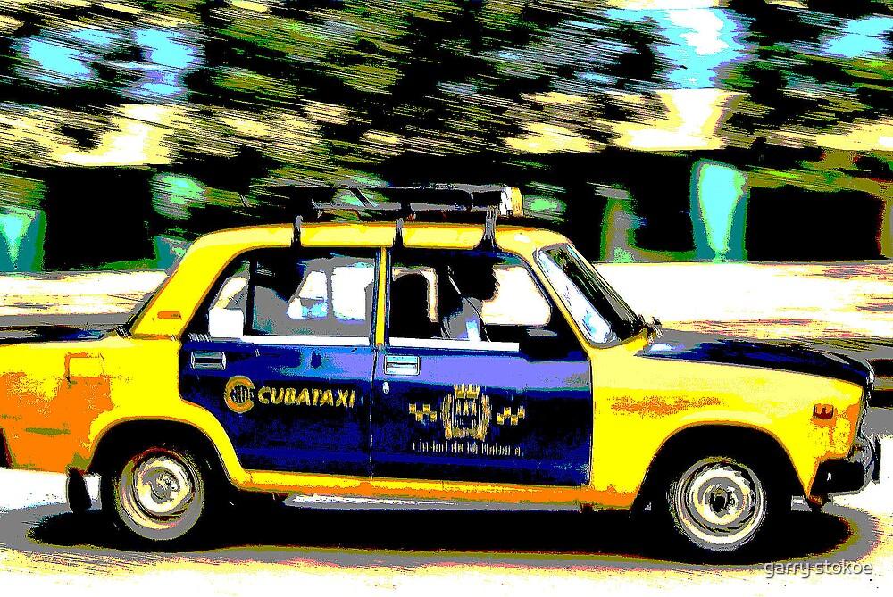 cuba taxi by garry stokoe