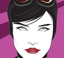 Cat Woman - Nagel Style by Patrick Scullin