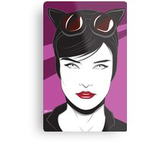 Cat Woman - Nagel Style Metal Print