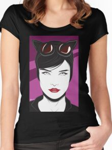 Cat Woman - Nagel Style Women's Fitted Scoop T-Shirt
