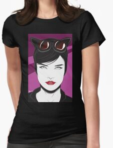 Cat Woman - Nagel Style Womens Fitted T-Shirt