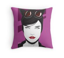 Cat Woman - Nagel Style Throw Pillow