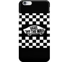 vans Checkerboard with 'off the wall' logo iPhone Case/Skin