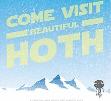 Hoth travel poster by talkdesigntome