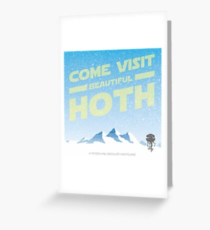Hoth travel poster Greeting Card