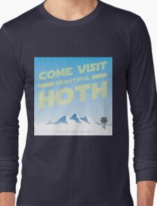 Hoth travel poster Long Sleeve T-Shirt