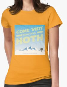 Hoth travel poster Womens Fitted T-Shirt