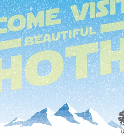 Hoth travel poster Sticker