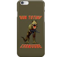 Gun Toting Carnivore II T-Rex iPhone Case/Skin