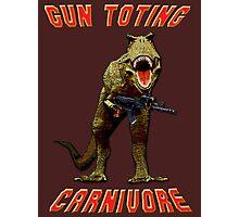 Gun Toting Carnivore II T-Rex Photographic Print