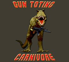 Gun Toting Carnivore II T-Rex Unisex T-Shirt