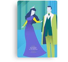He married the princess Canvas Print