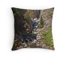 Myrtle Falls, Mt. Rainier National Park Throw Pillow