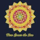 Here Comes the Sun ( sun salutation mandala for dark background) by LudaNayvelt