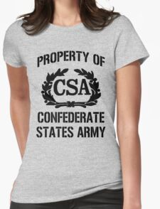 Property of Confederate States Army Womens Fitted T-Shirt