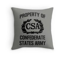 Property of Confederate States Army Throw Pillow