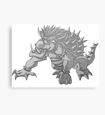 Super Saiyan Bowser Metal Print