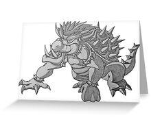 Super Saiyan Bowser Greeting Card