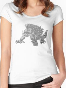 Super Saiyan Bowser Women's Fitted Scoop T-Shirt