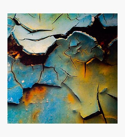Cracked and Peeling Paint  Photographic Print