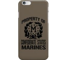 Property Confederate States Marines iPhone Case/Skin