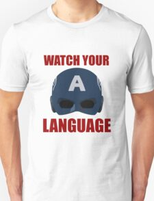 Captain America wants you to watch your language T-Shirt