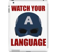 Captain America wants you to watch your language iPad Case/Skin