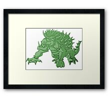 Super Saiyan Bowser (Green Tint) Framed Print