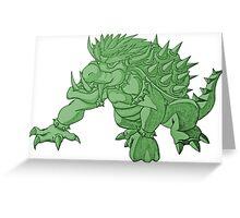 Super Saiyan Bowser (Green Tint) Greeting Card