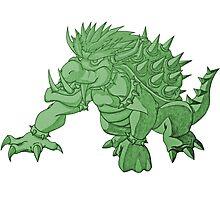 Super Saiyan Bowser (Green Tint) Photographic Print