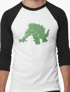 Super Saiyan Bowser (Green Tint) Men's Baseball ¾ T-Shirt