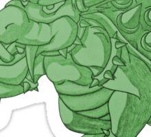 Super Saiyan Bowser (Green Tint) Sticker