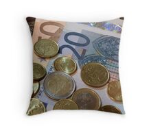 Euros Throw Pillow