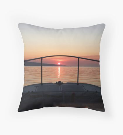 Fisherman's Sunrise Throw Pillow