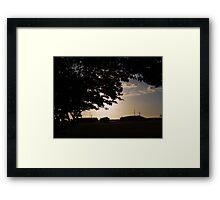 Sunset at the Base Framed Print