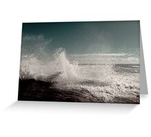 Fresh Ocean Splash ! Greeting Card