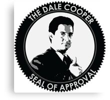 The Dale Cooper Seal Of Approval Canvas Print