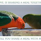 Will you share a meal with me? by Deborah McGrath
