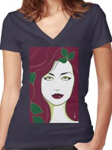 Poison Ivy - Nagel Style Women's Fitted V-Neck T-Shirt