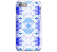 Blue Christmas pattern iPhone Case/Skin